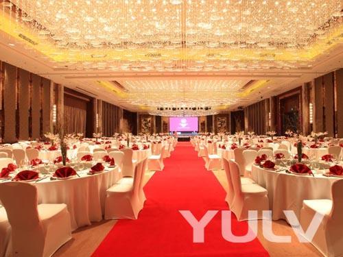 白鹭湖大宴会厅-婚礼摆台